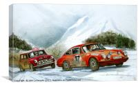 A moment in 1967 The Monte Carlo RAlly, Canvas Print