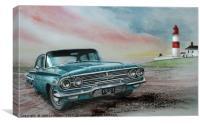 1960 Chevrolet Impala, Canvas Print