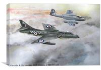Hawker Hunter and Gloster Meteor, Canvas Print