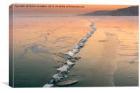ice fracture, Canvas Print