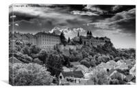 black white Veszprém , Canvas Print