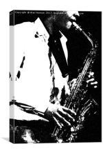Saxophone, Canvas Print