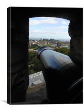 View From an Edinburgh Cannon, Canvas Print