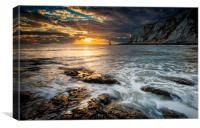 Sunrise at Beachy Head lighthouse, Canvas Print