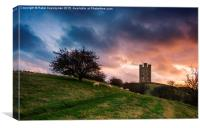 Tower at sunset, Canvas Print