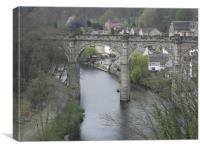 Ribble viaduct skipton, Canvas Print