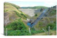 Llyn Brianne Dam & Spillway, Canvas Print