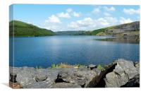 The Llyn Brianne Reservoir, Canvas Print