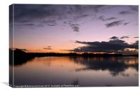 Sunset at Pitsford, Canvas Print