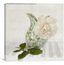 Rose music, Canvas Print