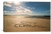 Love Cornwall, Canvas Print