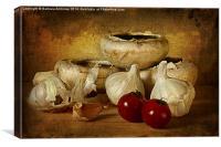 Garlic world, Canvas Print