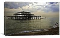 Sunset view of Brighton Pier, Canvas Print