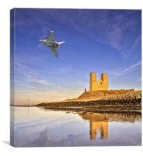 Reculver Tower Eurofighter Typhoon, Canvas Print