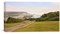 Seven Sisters Coastguard Cottages, Canvas Print