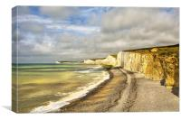 Birling Gap Eastbourne Sussex, Canvas Print