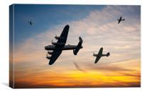 Battle of Britain Sunset, Canvas Print