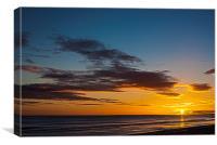 Stunning North Sea Sunrise, Canvas Print