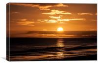 Stunning Golden Sunrise, Canvas Print