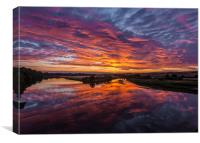River Sunset., Canvas Print