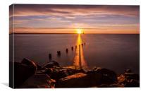 Stunning Coastal Sunrise., Canvas Print