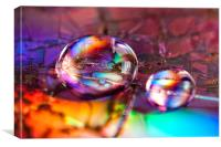 Rainbow drops, Canvas Print