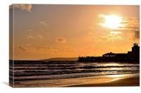 Bournemouth Pier at Sunset, Canvas Print