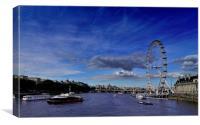 London Eye Cityscape, Canvas Print