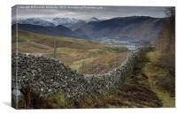 View to Borrowdale, Canvas Print