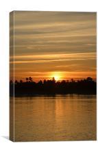 Sunset on Sea, Canvas Print