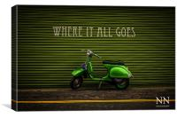 Vespa italian scooter, Canvas Print