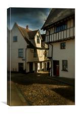 Elm Hill, Norwich, Canvas Print