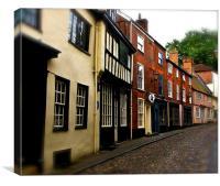 Cobbled St, Norwich, Canvas Print