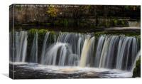 Waterfall Richmond, Yorkshire, UK, Canvas Print