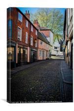 Old Norwich Shop Fronts, Canvas Print