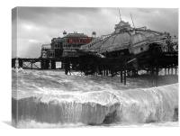 West Pier collapse, Canvas Print