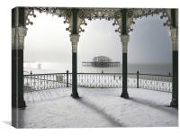 Bandstand winter view, Canvas Print