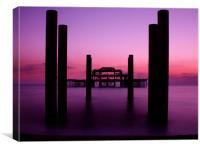 West Pier sunset 2, Canvas Print
