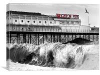 Brighton Pier storm, Canvas Print