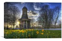 Sunset at Saltaire Church, Canvas Print