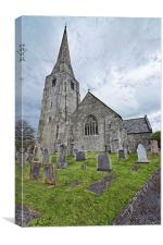 Norman St. Marys Church, Kidwelly, Canvas Print