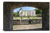The mansion house at Aberglasney, Canvas Print