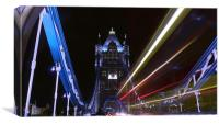 Tower Bridge By Night, Canvas Print