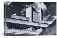 National Theatre Roof Detail, Canvas Print