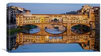 Ponte Vecchio Reflections, Canvas Print