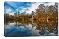 Park Lime Pits Reflections...., Canvas Print