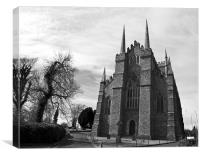 Downpatrick Cathedral, Canvas Print