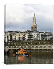 Dun Laoghaire Rescue Boat, Canvas Print