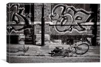 Graffiti in Wallsend, Canvas Print
