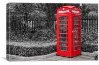 Red Telephone Box, Canvas Print